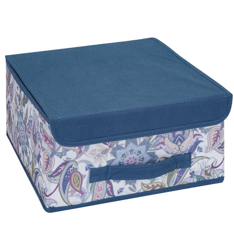 Кофр для хранения Hausmann Paisley 30x30x16см, синий