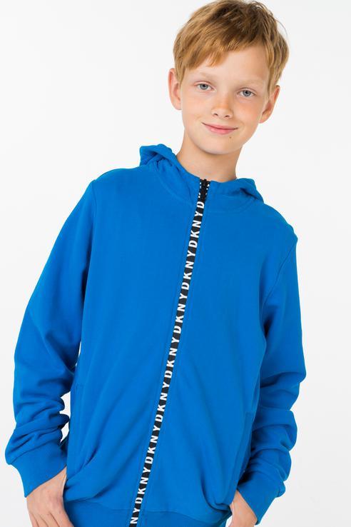 Купить D25C05/837 FW18/19, Толстовка для мальчика DKNY, цв.синий, р-р 150,