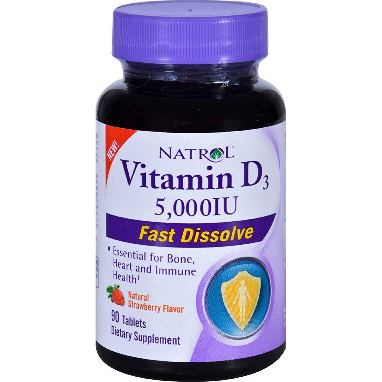 Витамин D Natrol Vitamin D3 5000 90 таблеток фото
