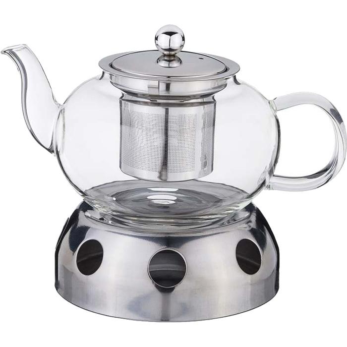Чайник заварочный AGNESS, 800 мл, с подставкой