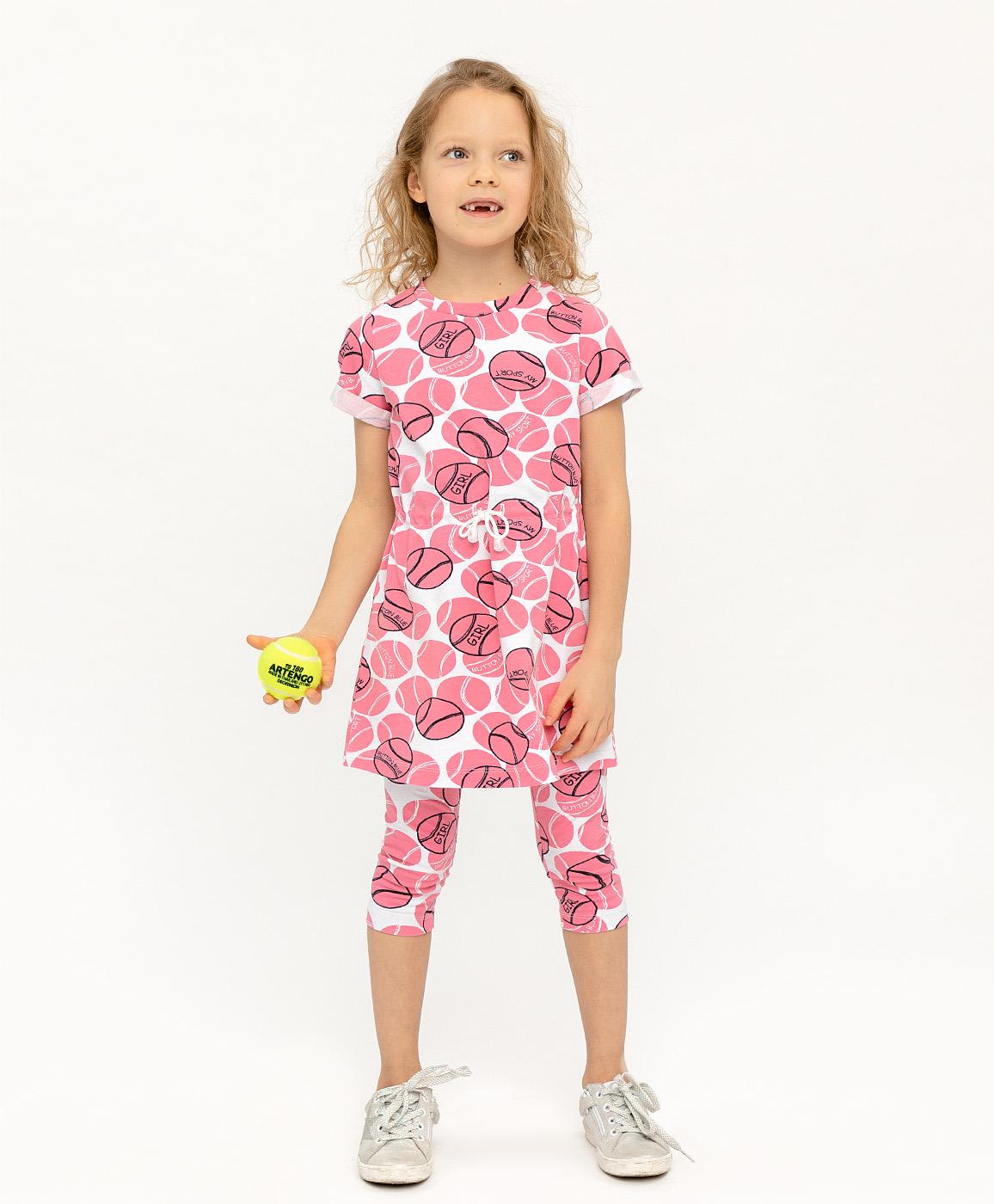 120BBGF50021213, Платье для девочек Button Blue, цв. розовый, р-р 116,  - купить со скидкой