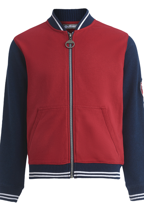 Купить 11912BJC1605, Толстовка для мальчика Gulliver, цв.красный, р-р 140,