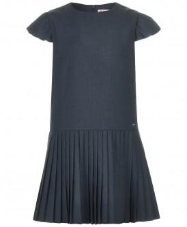 Купить 218BBGS25020100, Платье для девочек Button Blue, цв. серый, р-р 158, Платья для девочек
