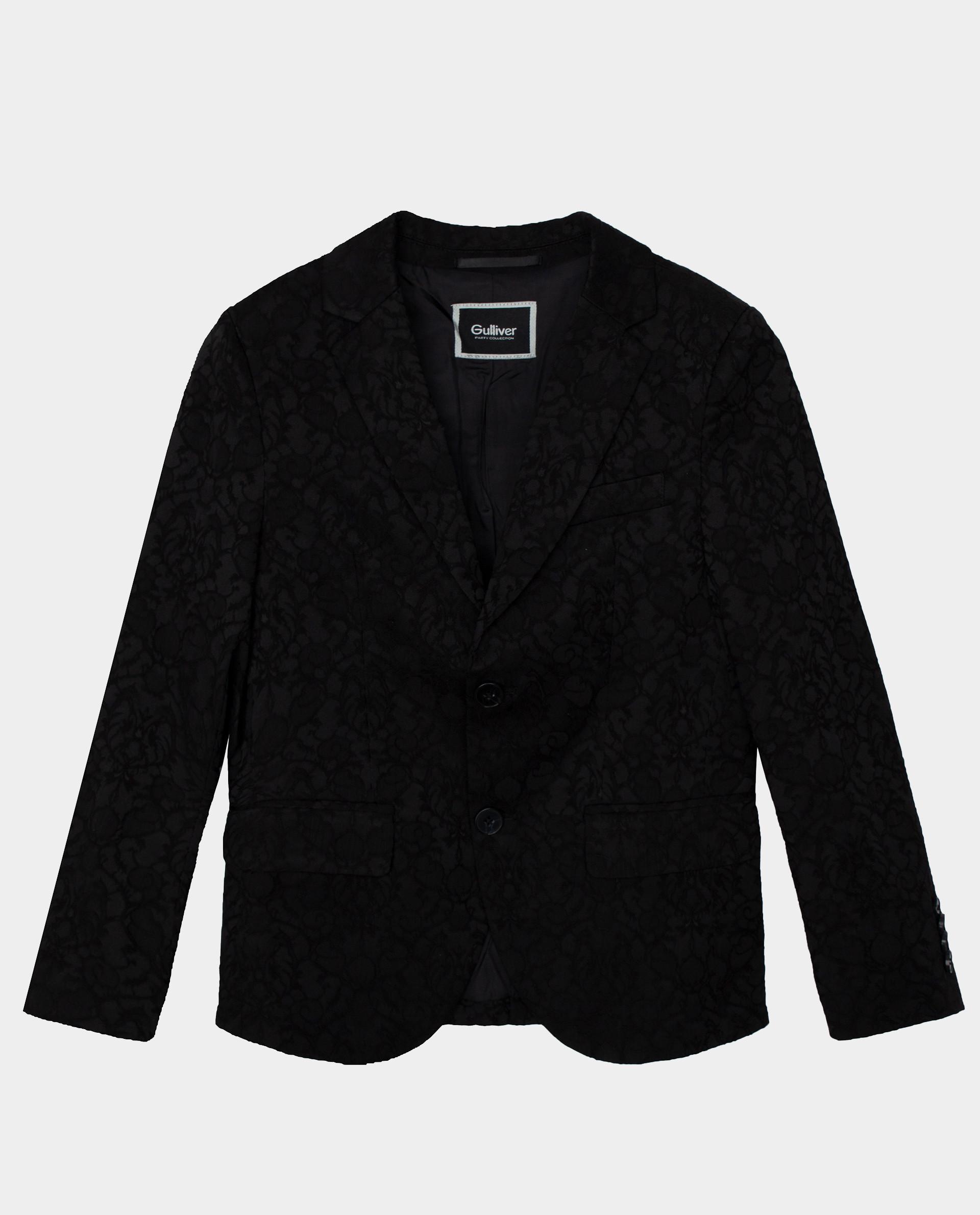 Черный пиджак Gulliver размер 140 220GPBJC4801,  - купить со скидкой