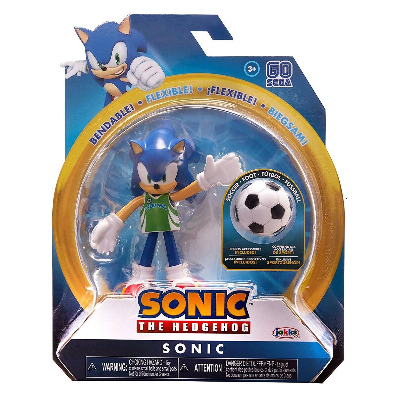 Купить Подвижная фигурка Соник футболист Sonic The Hedgehog 10 см Jakks Pacific 22958,