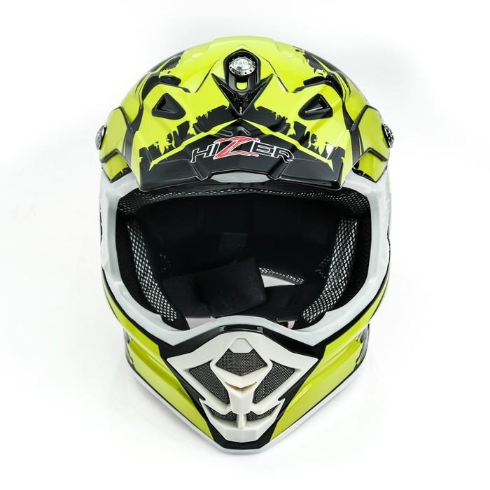 Шлем HIZER B6195 black/yellow, размер S