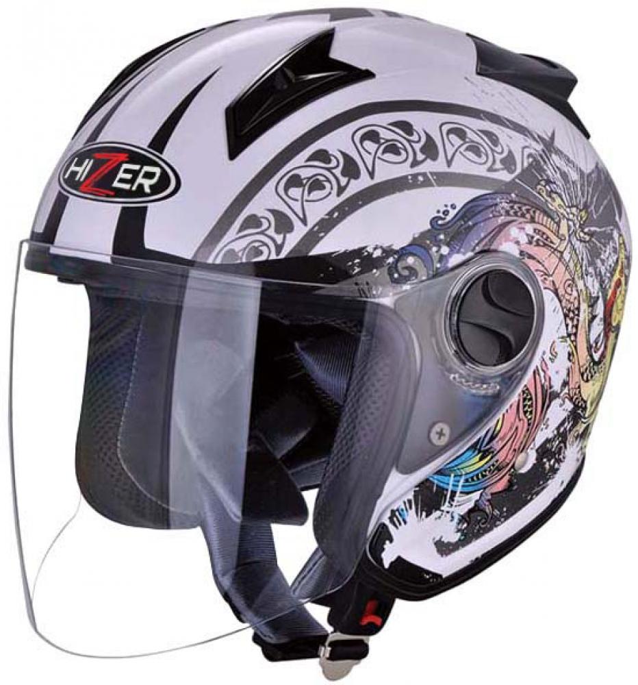 Шлем HIZER 216 white, размер S