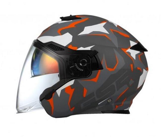 Шлем GSB G 263 Grey Matt/Orange, размер