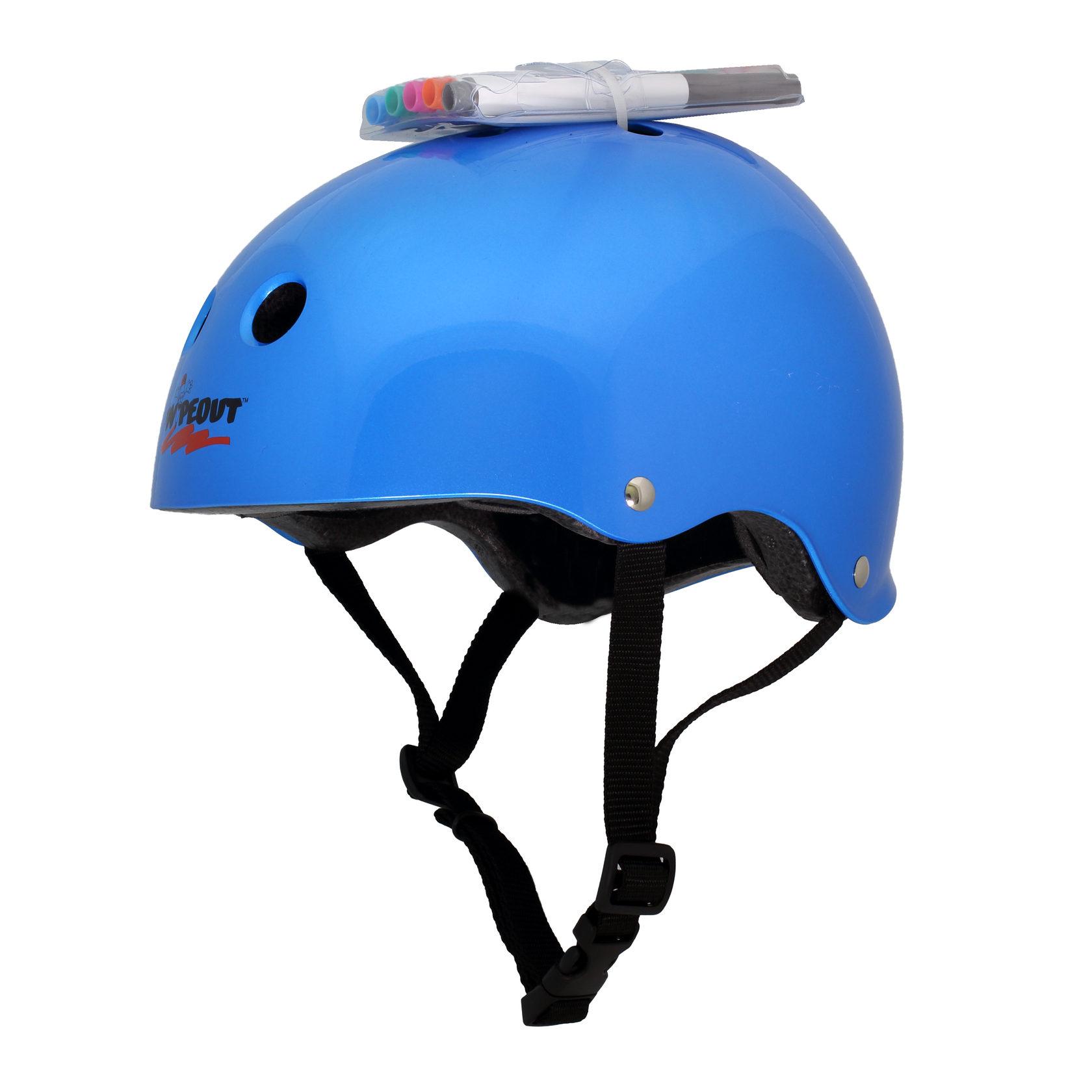 Купить Шлем защитный с фломастерами Wipeout M 5+ цв.синий,