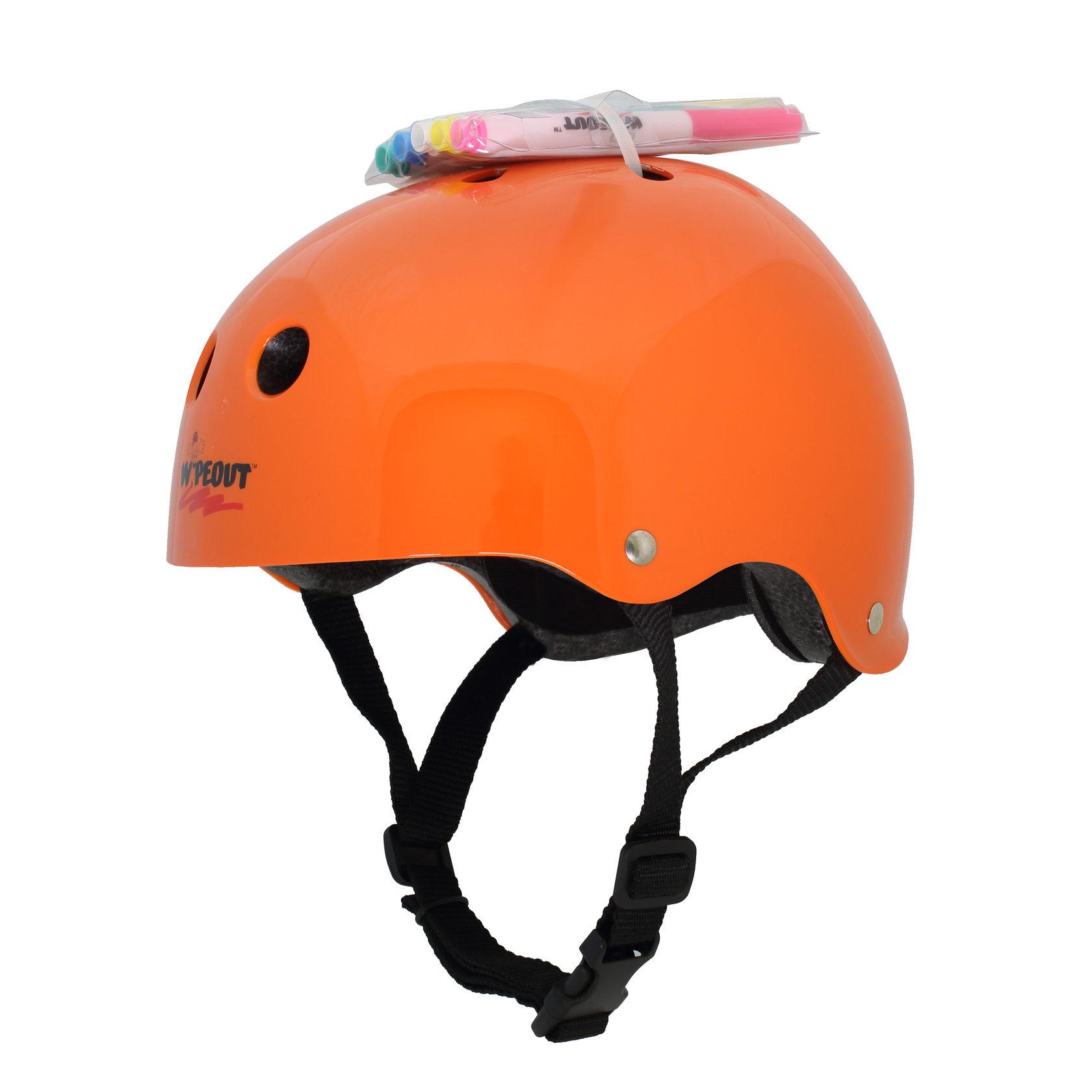 Купить Шлем защитный с фломастерами Wipeout M 5+ цв.оранжевый,