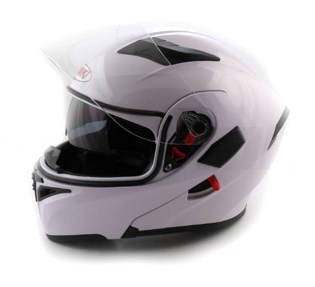 Шлем (модуляр) Ataki FF902 Solid белый глянцевый,