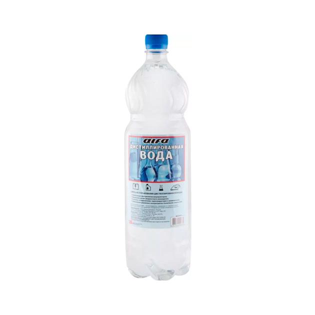 Вода дистиллированная ALFA, 1.5л ПЭТ бутылка