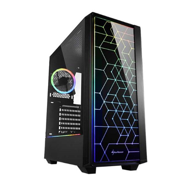 Корпус компьютерный Sharkoon RGB LIT 100