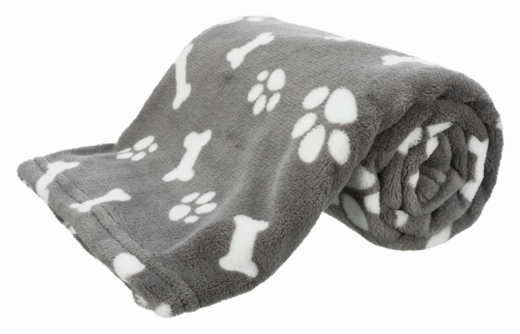 Одеяло для собак TRIXIE Kenny плюш, серый,