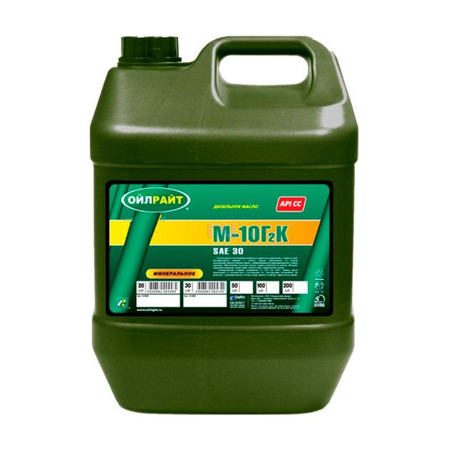Моторное масло OILRIGHT М 10Г2К SAE30 минеральное