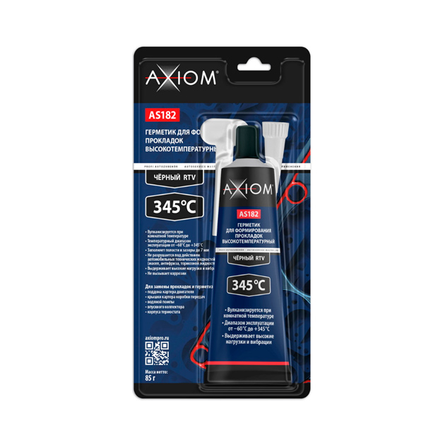 Герметик прокладка черный высокотемпер. 85г AXIOM AS182