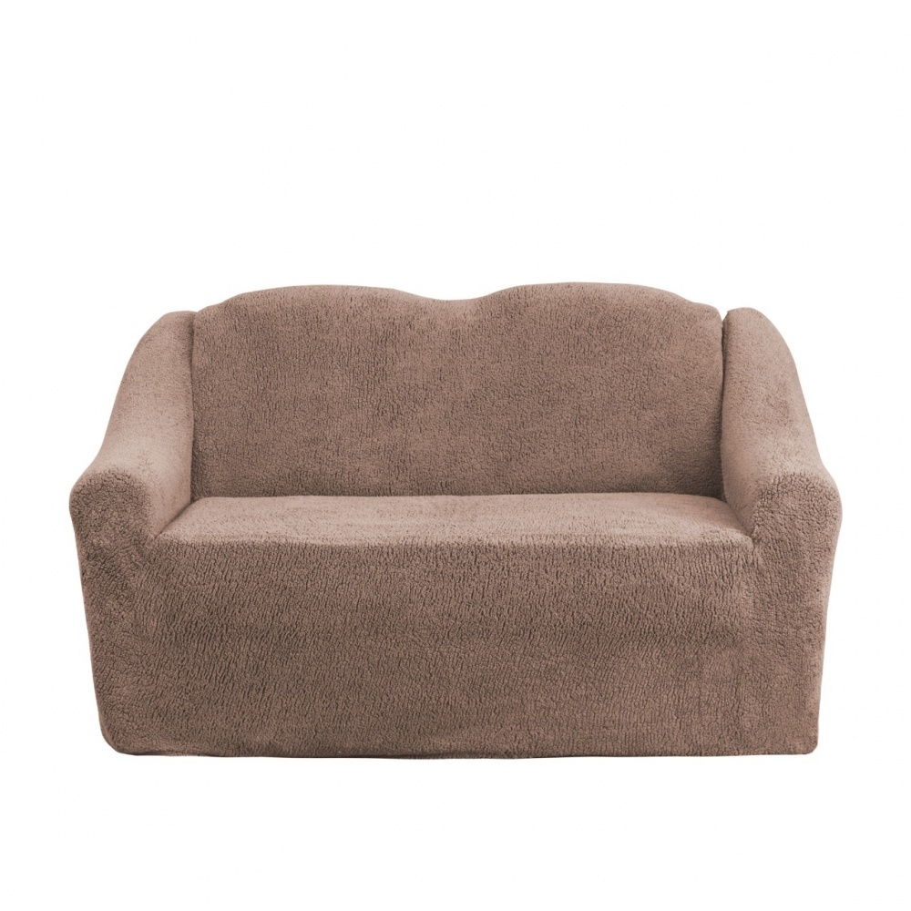 Чехол на двухместный диван плюшевый Venera