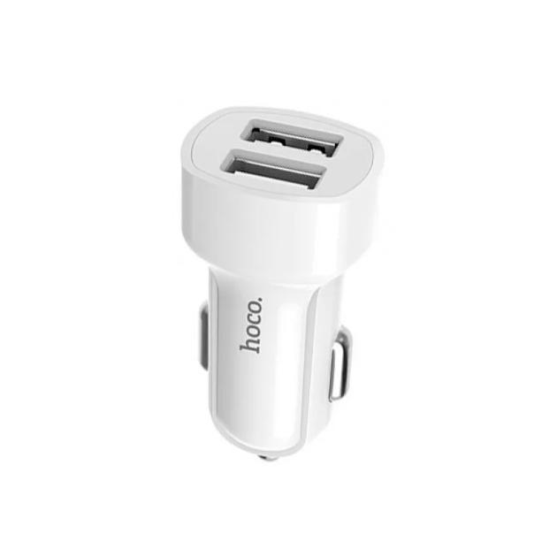 Автомобильный адаптер питания Hoco Z2A White зарядка