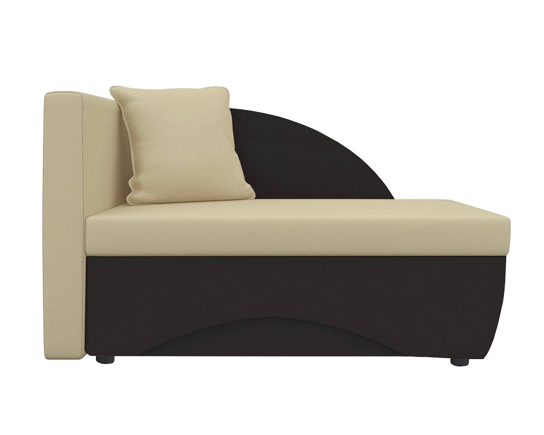 Кушетка Шарм Дизайн Трио экокожа коричневый/бежевый левый
