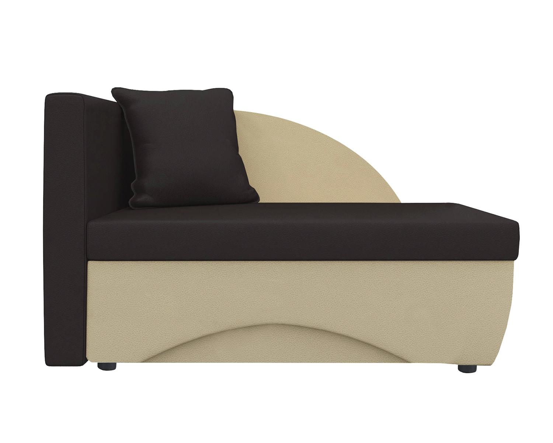 Кушетка Шарм Дизайн Трио экокожа бежевый/коричневый левый