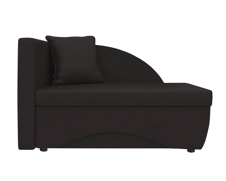 Кушетка Шарм Дизайн Трио экокожа коричневый левый