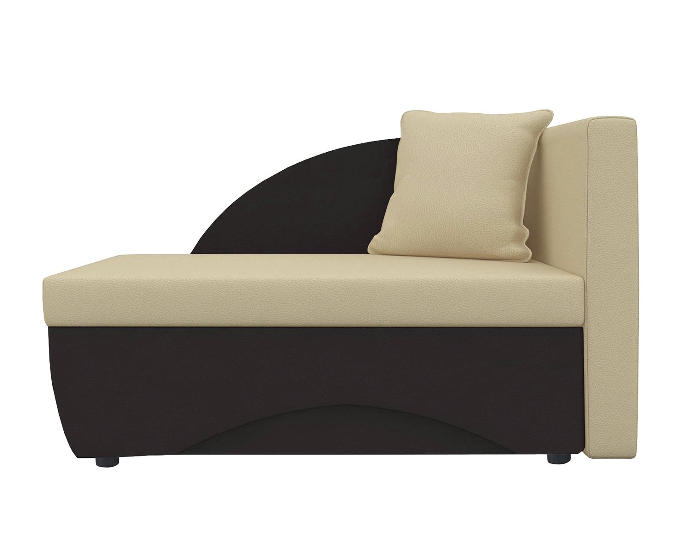 Кушетка Шарм Дизайн Трио экокожа коричневый/бежевыйправый