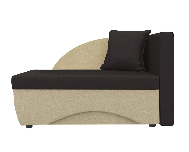 Кушетка Шарм Дизайн Трио экокожа бежевый/коричневыйправый