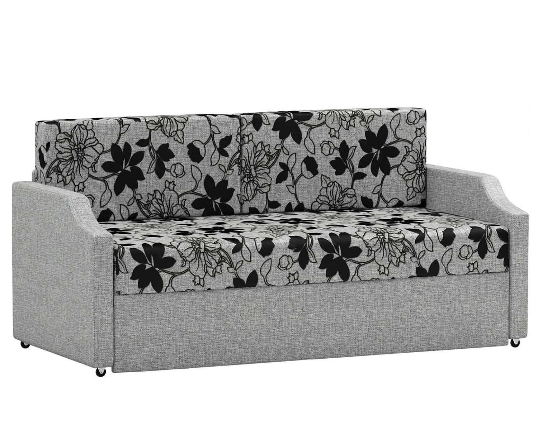 Кушетка Шарм Дизайн Малыш шенилл серый цветы