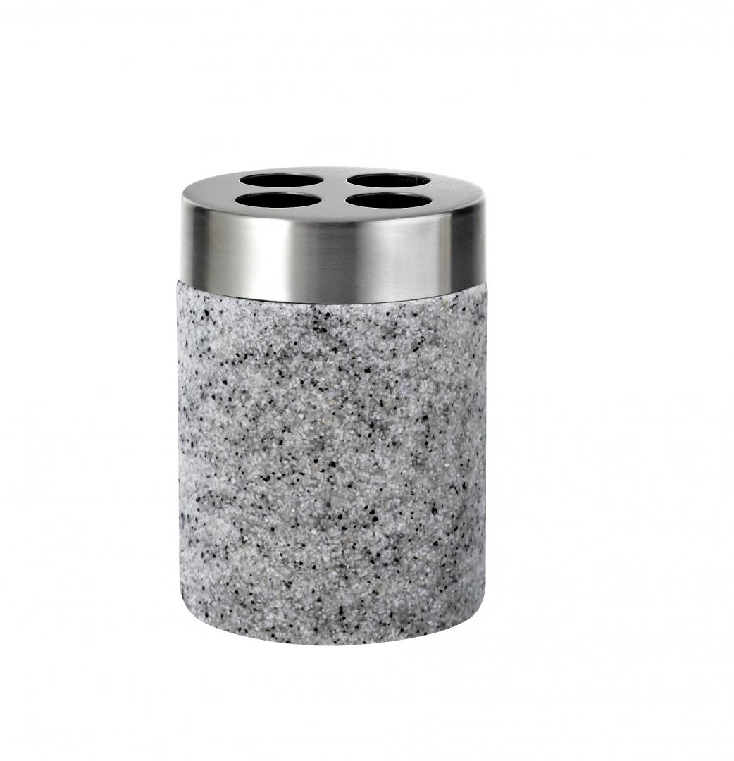 Стаканчик для зубной щётки Stone серый по цене 1 166