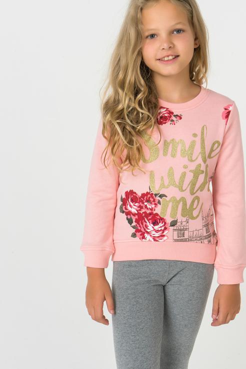 Купить 382070, Толстовка для девочки PlayToday, цв.розовый, р-р 116, Play Today,