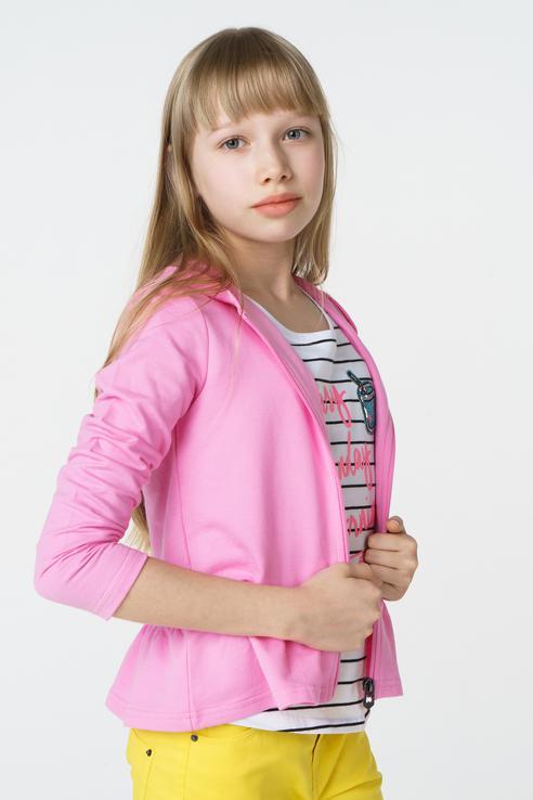 Толстовка для девочки BAON, цв.розовый, р-р 110 BK118001