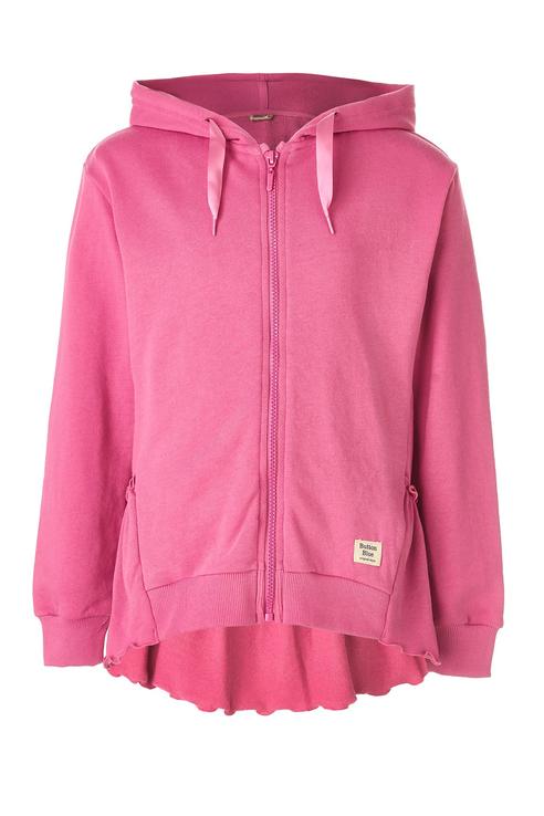 Купить 119BBGC16031200, Толстовка для девочки Button Blue, цв.розовый, р-р 128,