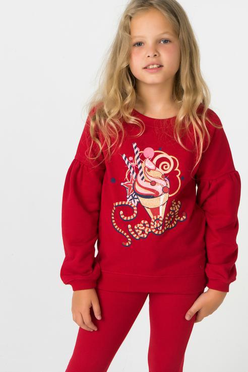 Купить 382069, Толстовка для девочки PlayToday, цв.красный, р-р 104, Play Today, Толстовки для девочек