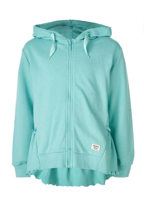 Купить 119BBGC16032600, Толстовка для девочки Button Blue, цв.зеленый, р-р 128,