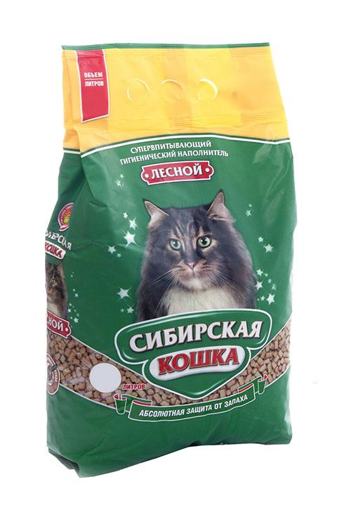 Впитывающий наполнитель для кошек Сибирская кошка Лесной