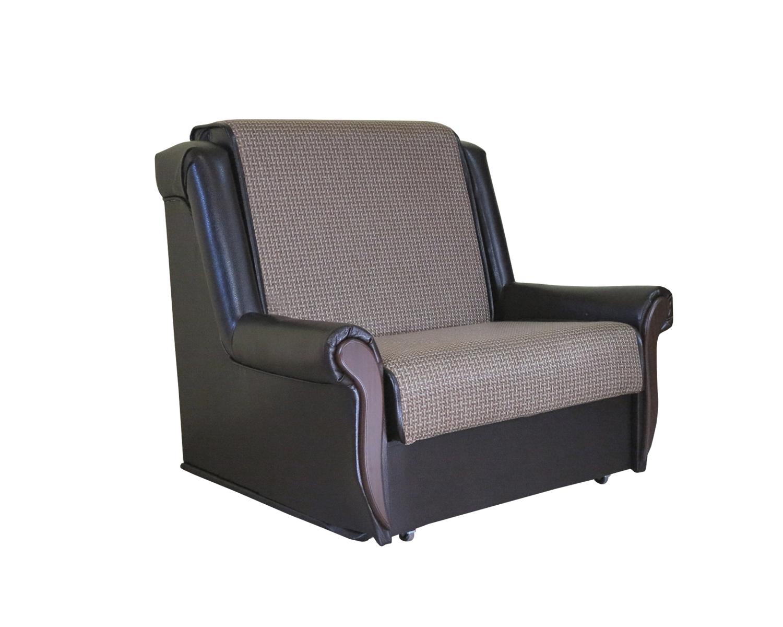 Кресло кровать Аккорд М рогожка коричневый