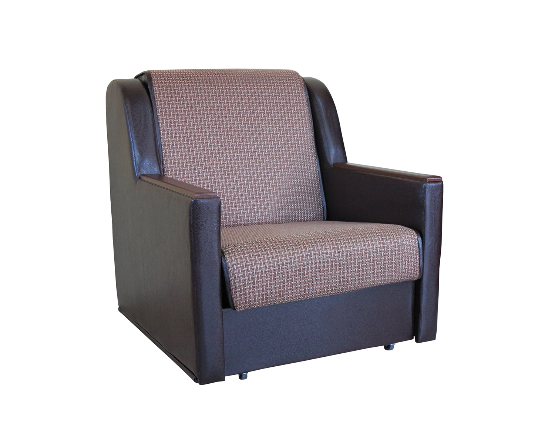 Кресло кровать Аккорд Д рогожка коричневый