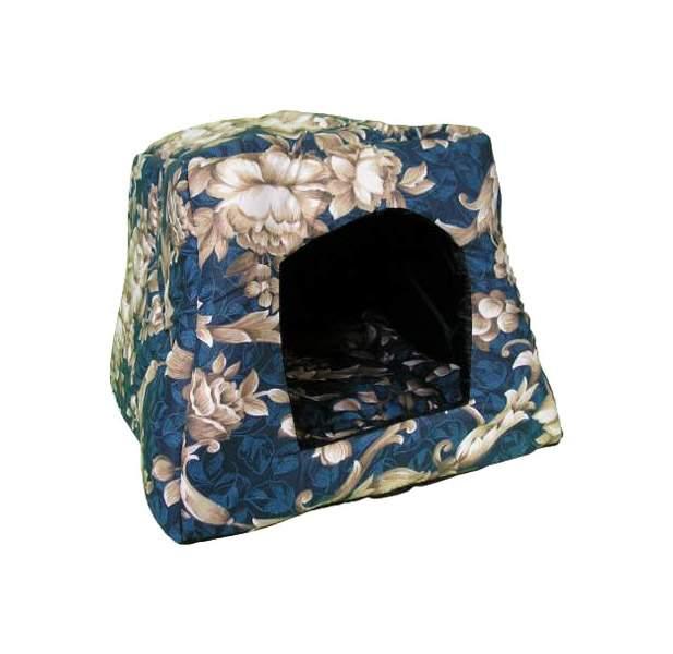 Домик для кошек и собак DOGMAN Трапеция средняя (бязь), в ассортименте, 40x32x40см фото