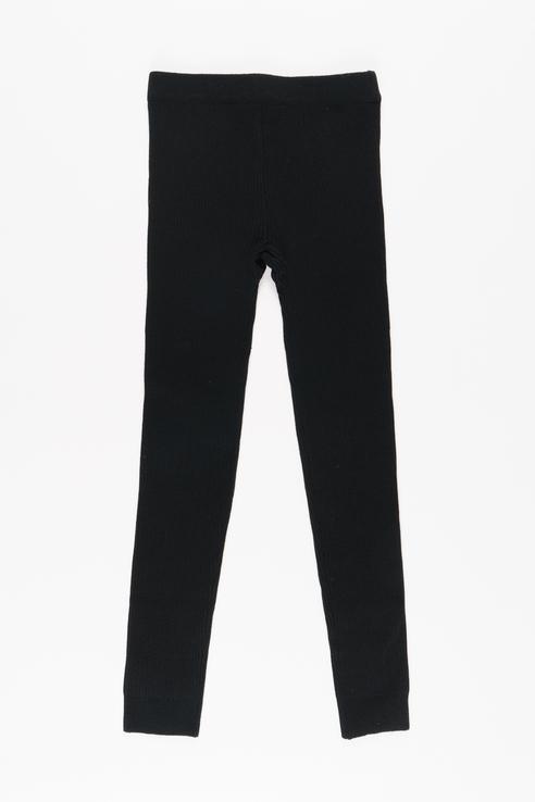 Трикотажные брюки для девочки Button Blue, цв.чeрный,