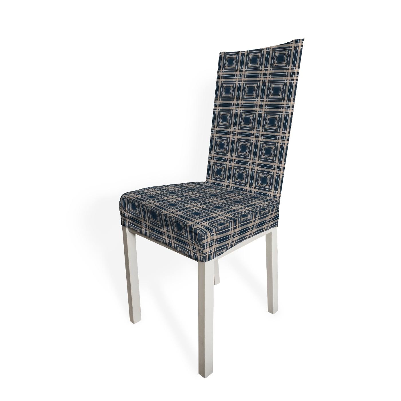 Чехол на стул Синяя с золотом sfer.tex
