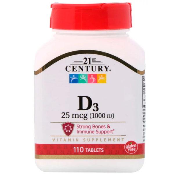 Витамин D3 21st Century D3 1000 IU 110 таблеток фото