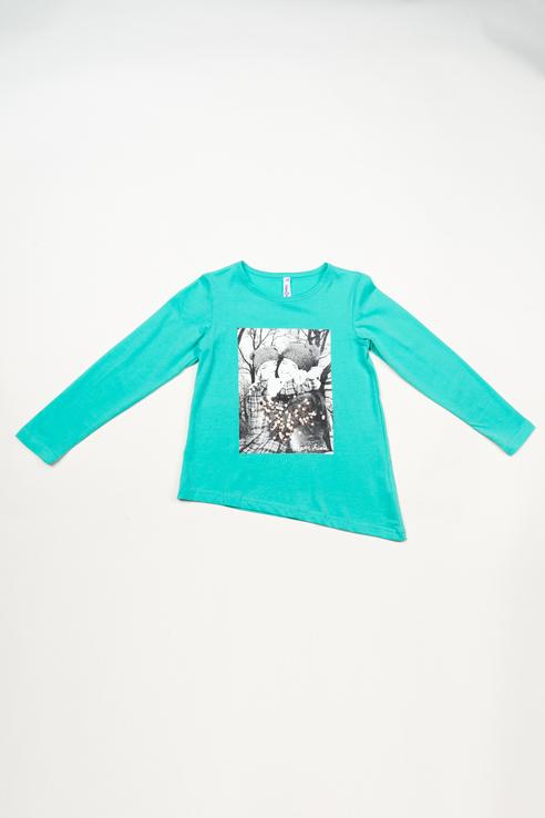 Туника для девочки PlayToday, цв.голубой, р