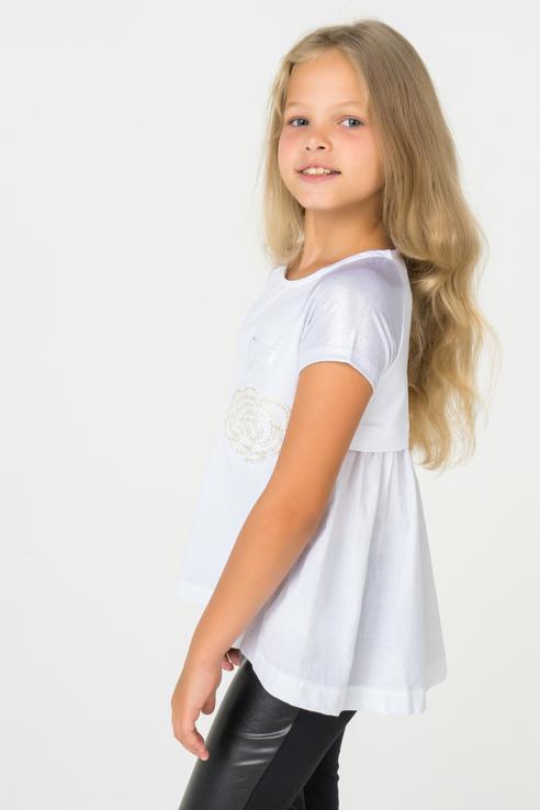 Туника для девочки iDO, цв.белый, р-р 152