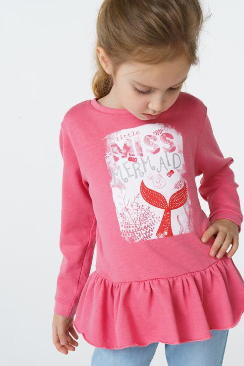 Туника для девочки BAON, цв.розовый, р-р 122