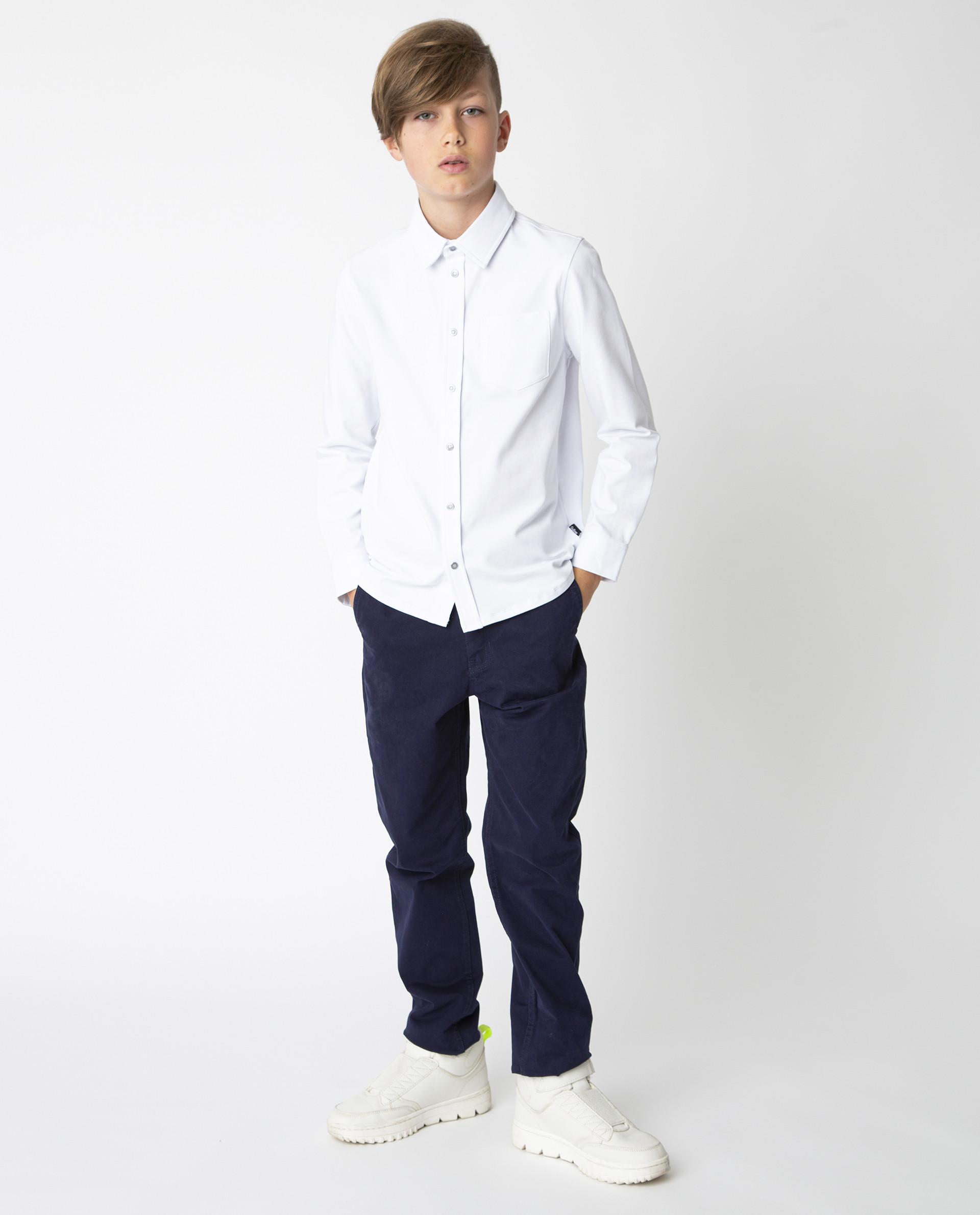 Белая рубашка на кнопках Gulliver, модель 220GSBC1410, р. 122