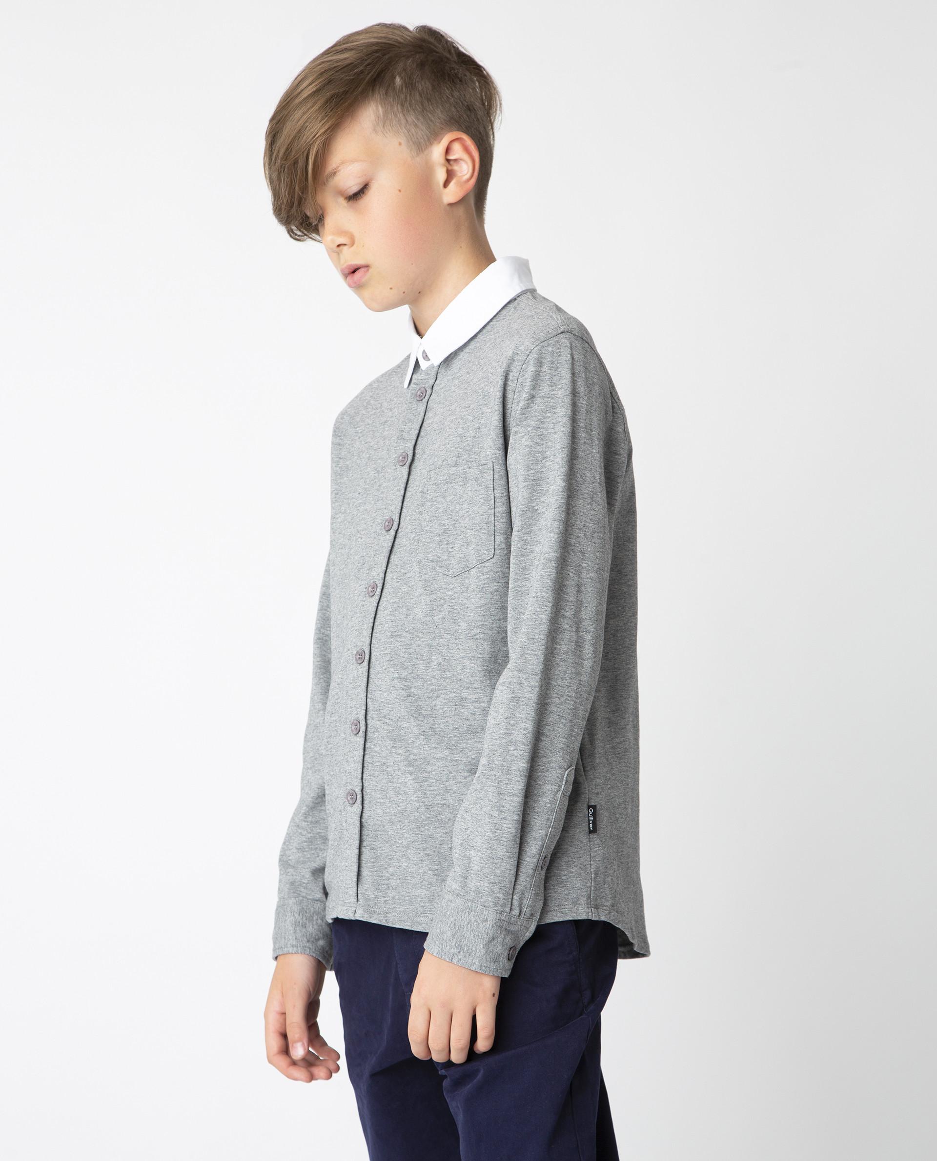 Купить Серая рубашка на кнопках Gulliver, модель 220GSBC1407, р. 170,