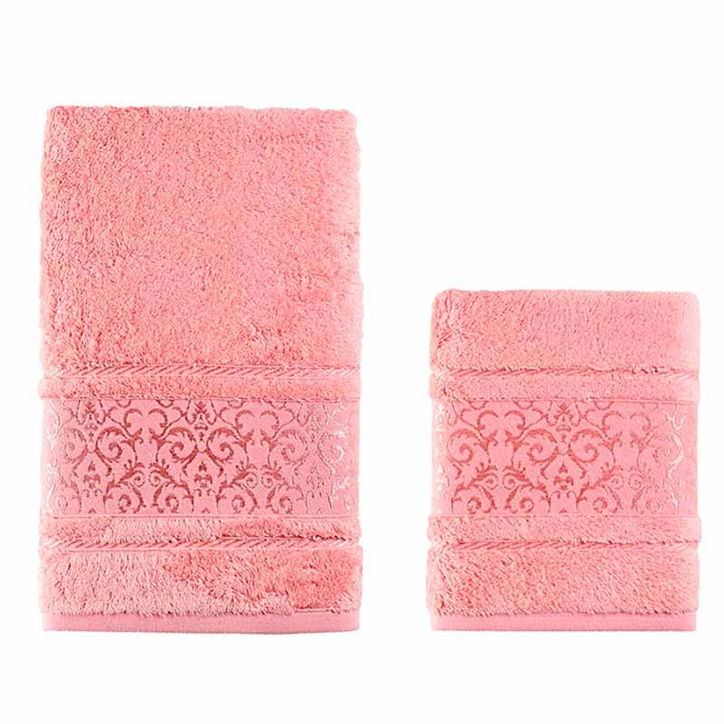 Комплект полотенец Karna Armond 2шт, коралловый