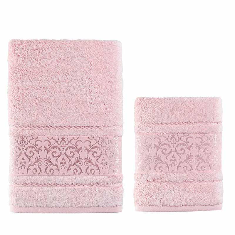 Комплект полотенец Karna Armond 2шт, пудра