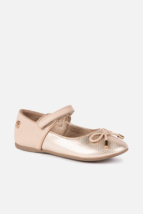 Купить 46821, Туфли для девочки Mayoral, цв.бежевый, р-р 32, Детские туфли