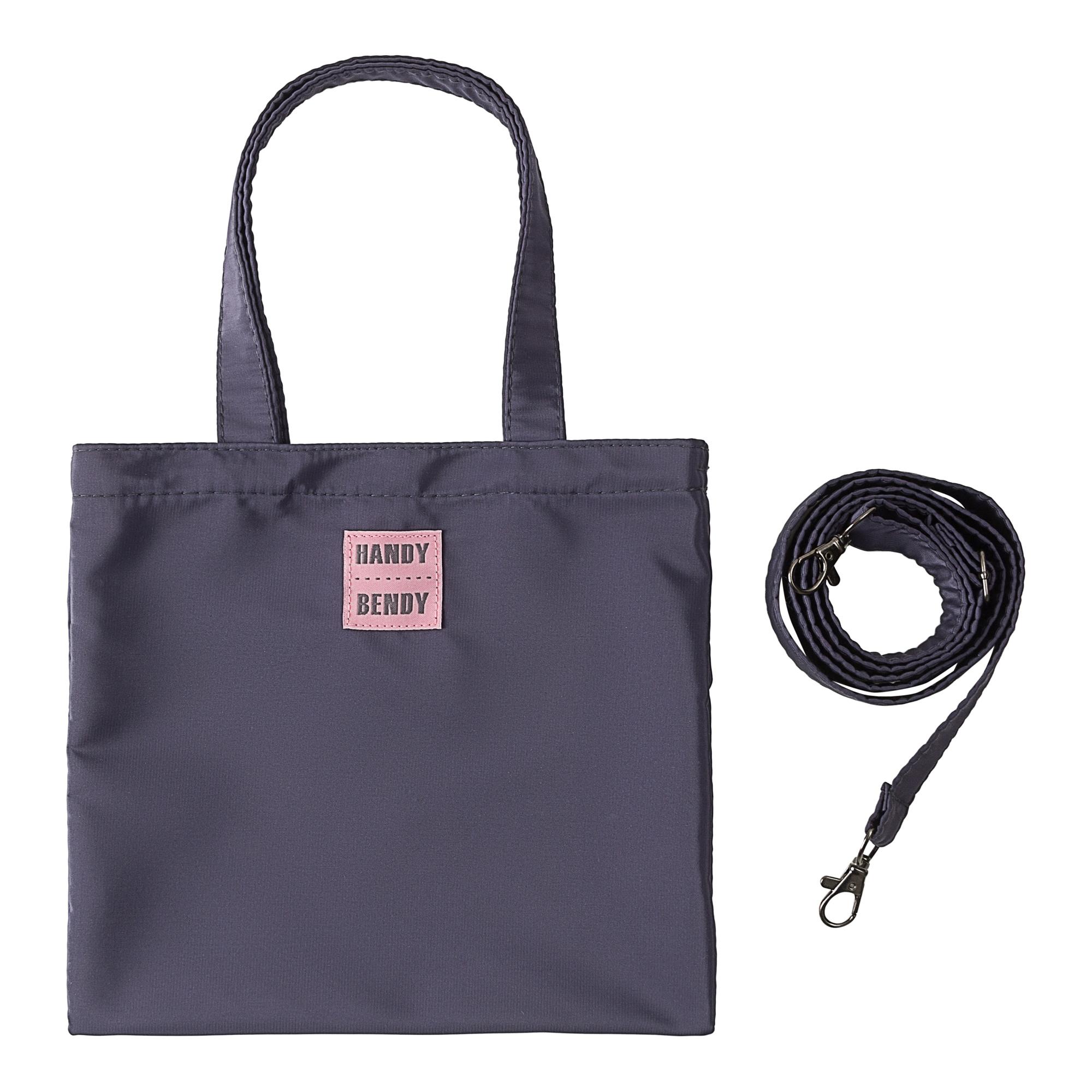 Маленькая сумка Handy Bendy со съемной ручкой, серо-синий